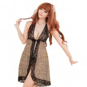 Sexy Baby doll Lingerie Pajamas Princess Dress g chain Flower leopard Night suit