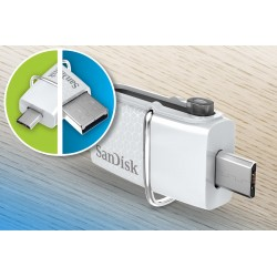 SANDISK ULTRA DUAL USB FLASH DRIVE -32GB-WHITE