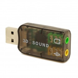 External USB Sound Card Audio Adapter Mic Speaker Audio Interface For Laptop PC