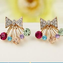 Fashion Women Ladies Elegant Crystal Rhinestone Ear Stud Earrings Jewelry