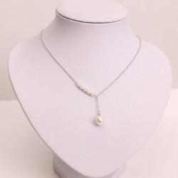 Korean Latest Design Pearl Beads Pearl Chain With Pearl Drop Necklace for women