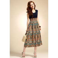 Summer Style Women Floral Print Bohemia Dress