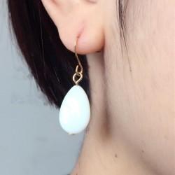 Korean Design Tear drop Solid Versatile Female Earrings for women