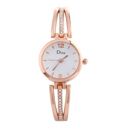 Watch Quartz Bracelet Women Luxury Stainless Steel Ladies Dress Watch.