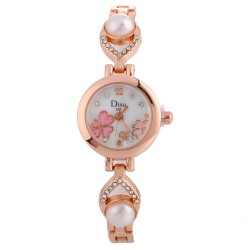 Clasic Women Acrylic Round Alloy Quartz Wrist watches