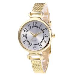 Fashion Women Watch slim Belt Watch Luxury Brand Women Quartz Gold Wrist Watch