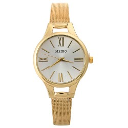 Women Watch Quartz Bracelet Stainless Steel Casual wrist Watch.