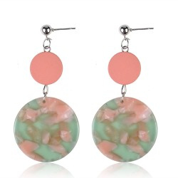 Fashion Geometric Earrings Acrylic Pendants Drop Stud Earrings For Women Jewelry