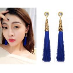 New Vintage Crystal Tassel Drop Earrings Bohemia Earring For Women jewelry