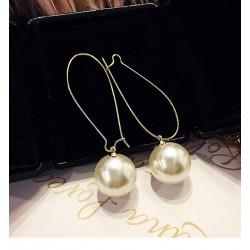 Drop Pearl Crystal Tassel Alloy Drop Earrings jewelry  For Women