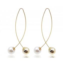 Fashion Imitation Pearl Tassel Vintage Long Section Earrings Jewelry Earrings
