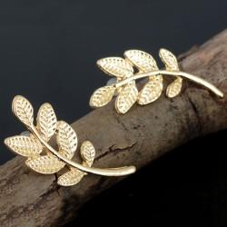 Fashion Women Simple Leaf Ear Stud Dangle Earrings Jewelry