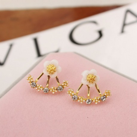 Fashion Jewelry Cute Cherry Flowers Earrings for Women Several Flowers Peach Earrings