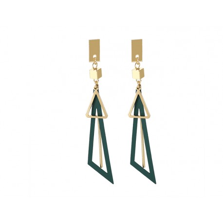 Long Tassel Korean Exaggerated Earrings Big Triangle Earrings For Women