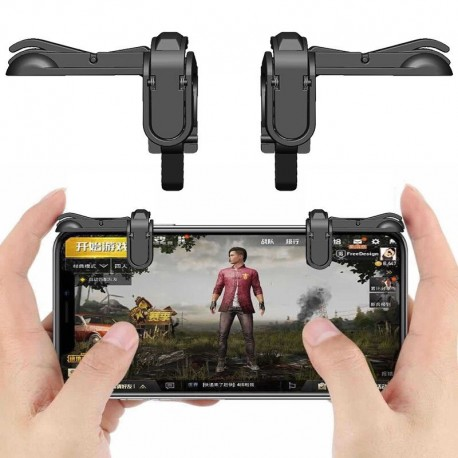 PUBG Mobile Game Controller Autra Fire Button and Aim Key Joystick Shooter Control Sensitive for phones