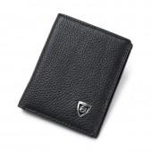 Small Slim Mini Genuine Leather Men Wallet Male Purse Thin Money Bag Short