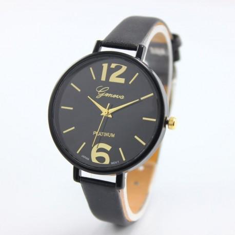 Women Geneva Stainless Steel Watch Leather Analog Quartz Casual Wrist Watches