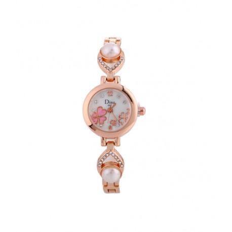 Clasic Women Acrylic Round Alloy Quartz Wrist Watches