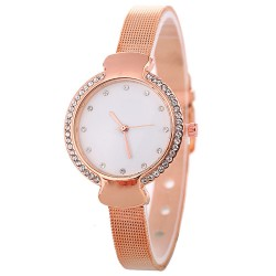 Fashion Alloy Round waterproof Wrist watches For Women