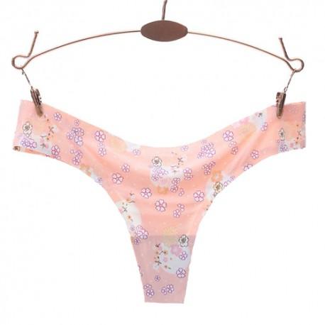 Fashion Women Sexy Pattern Printed Panties G-string Seamless Briefs Low Waist Underwear
