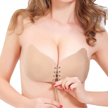 Sexy Silicone Self Adhesive Push up Bra Magic Strapless Invisible Bras Backless