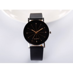 Unisex Leather Belt Analog Wrist Watch
