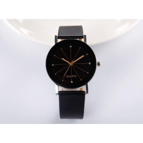 Unisex Leather Belt Analog Wrist Watch