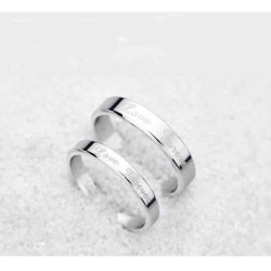 Korean version of the jewelry pure white copper ring pair of men and women