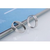 silver couple ring female men's live mouth ring Korean silver opening adjustable-SLIVER