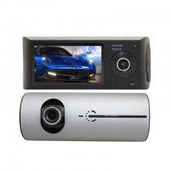 HD front and rear dual recording driving recorder with GPS