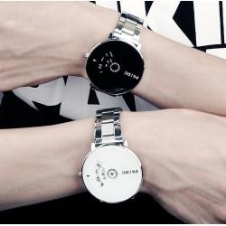 White & Black Turntable Dial unisex watch-PAIDU