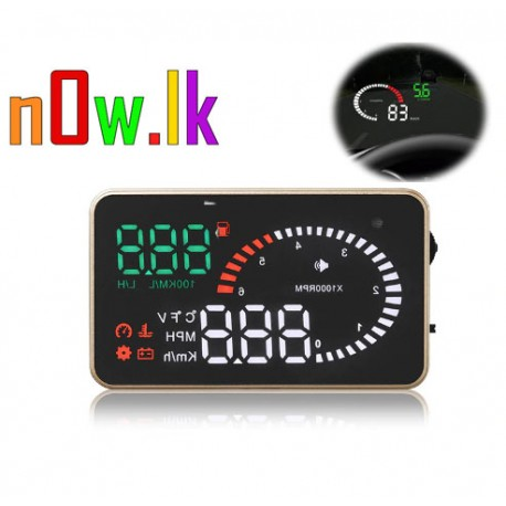 Head up Display X6 car driving computer 3 inch OBD speed fuel consumption  water temperature display