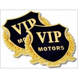Metal three-dimensional car stickers VIP labeling car modified car standard car label-GOLD