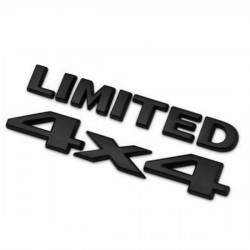 4x4 Four Wheel Metal Logo 3D Emblem Sticker Limited Car- BLACK