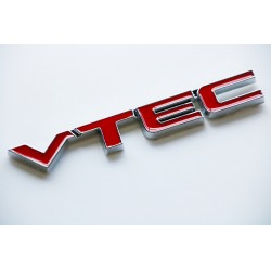 Chrome VTEC Emblem Decal Badge Sticker-RED