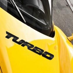 TURBO turbocharged labeling TURBO tail box car standard 3D stereo labeling-BLACK