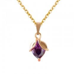 Classic popcorn earrings necklace jewelry set