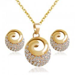 Fashion Wire Fashion Crystal Shape jewelry Set -Gold