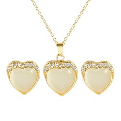 HOT Brand Women Girl Heart Charm Crystal Rhinestone Necklace