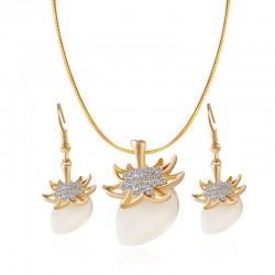 Men's Jewelry Set Strawberry Stylish Include Drop Earrings Necklace