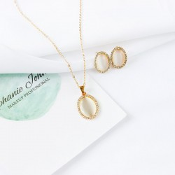 Women's Cat's Eye Jewelry Set Drop Sweet, Elegant Include Bridal Jewelry Sets