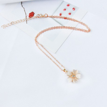 Fashion individuality jewelry sets,metal chain resin flower pendant