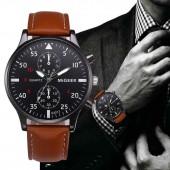 Military Business Watches Men Brand Luxury Sport Relogio Masculino Brand Luxury Leather Band Quartz Wrist