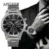 MIGEER Luxury Brand Men Quartz Casual Military Army Sport Watch Men Watches