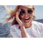 Unisex Vintage Oval Steampunk Designer Sunglasses