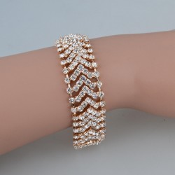 Fashion Gold Color Charming Bride Sliver Plated Wedding Crystal Jewelry