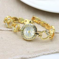 Love heart bracelet diamond quartz female watch