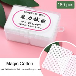 180 Pcs/box Lint-Free Nail Polish Remover Wipes UV Gel Tips Remover Cotton Cleaner Paper Pad Nail Polish Cleaning Manicure Tools