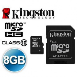 KINGSTON 8GB MICRO SD SDHC FLASH MEMORY CARD