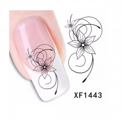 Flower Bows water Transfer Nail Art sticker